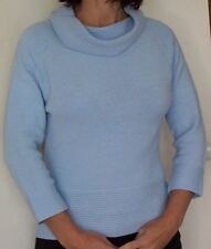NEW...JUMPER.. BLUE  Cowl Neck 3/4 Sleeve...Size:14
