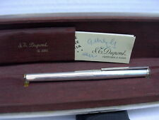 STYLO ST DUPONT ARGENT MASSIF PLUME OR ANCIEN COLLECTION VERS 1970