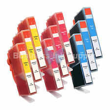 9 COLOR 564XL New Ink Cartridge W/CHIP 564XL *INK LEVEL* 564XL (3x3CLR) for HP