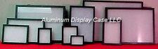 "(24) Riker Mount Display Case 12 x 8 - 3/4"" w/poly"
