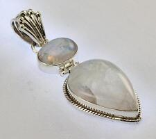RAINBOW MOONSTONE PENDANT 925 STERLING SILVER ARTISAN JEWELRY COLLECTION Y141B