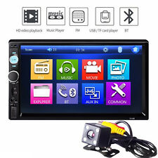 7010B 7' Bluetooth Car Audio Stereo Touch Screen Mp5 Player w/ Rearview Camera#