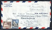 Bermuda 1946 Airmail Redirected Postal History Cover to Scotland WS18162