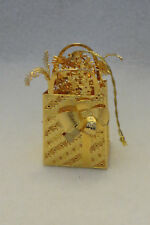 """""""Holiday Shopping"""" 2006 Danbury Mint 23Kt Gold Electroplate Ornament"""
