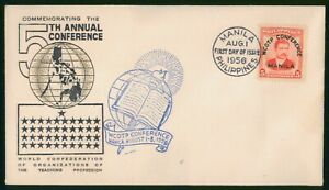 Mayfairstamps Philippines FDC 1956 WCOTP 5th Conference First Day Cover wwp_5197