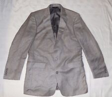 Jos A Bank Mens Size 40 Lng Herringbone Grey Blazer 55% Linen 45% Silk  NWT