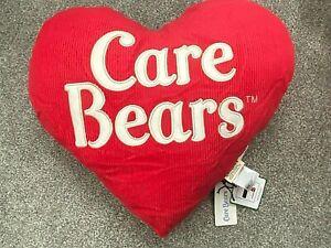 NEW Very Rare Vintage Retro Style The Carebears Care Bears Heart Shaped Cushion