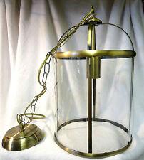 SILVESTER LANTERN ANTIQUE BRASS + GLASS CEILING PENDANT 1 LIGHT LIGHTING SHADE