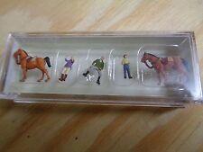 N 1:160 Preiser 79186 Sobre el Paseos a caballo. figuras. EMB.ORIG
