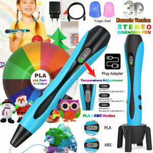 3D Stifte Set 3D Druck Stift mit 3/12Farben 120ft PLA Filament 3D Pen DIY Kinder