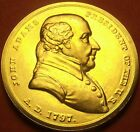 Gem Unc John Adams Presidential Bronze Inauguration Medallion~Free Shipping