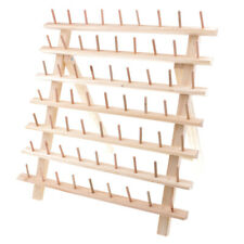 63 Spool Thread Rack Holder Wood Embroidery Storage Organizer for Sewing