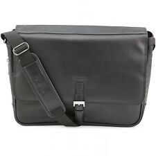 Kenneth Cole Expandable Leather Laptop Briefcase Computer Case Messenger Bag
