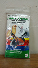 Small Animal Leash Rope Harness for Ferret, Guinea Pig, & Rabbit, Size Large