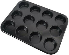 12-Cup Non-Stick Muffin Pans Bakeware Carbon Steel Bakeware Cupcake Baking Mold