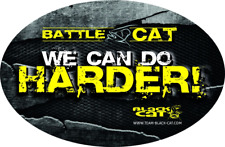 "Black Cat ""We can do harder"" ovaler Aufkleber/Sticker 12x8cm Angelaufkleber"