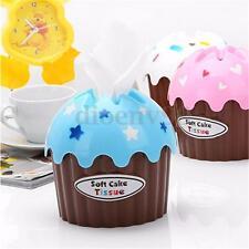 Cute Ice Cream Cupcake Cake Tissue Box Napkin Cover Holder Towel Container Decor