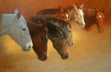 """String of Colts"" Wayne Baize Limited Edition Giclee Canvas"