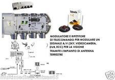 MODULATORE AUDIO VIDEO VHF UHF 5858 E RIPETITORE TELECOMANDO 7237 TELEVES