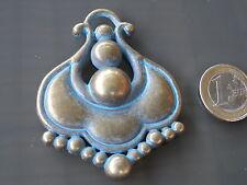1 Colgante Grande Zamak Vintage Turquesa,pendat,pendentif,ciondolo,anhänger