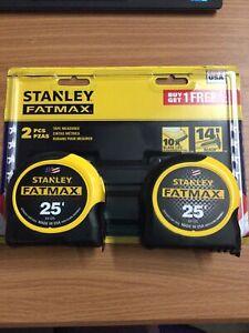 Stanley FMHT74038 25 ft. FATMAX Tape Measure - 2 Pack