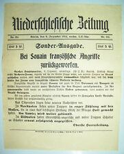 Bei Souain französische Angriffe zurückgeworfen ! 1914 Niederschlesische Zeitung