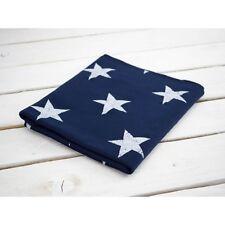 Printed Stretch Jersey Knit/ Sweatshirt Fabric Stars on navy blue HalfMetre