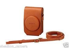 New Sony LCJ-RXG Premium Beige Brown Jacket Case Strap DSC-RX100 M3 M4 III IV