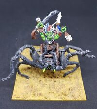 Orcs & Goblin boss on gigantic spider Shelob conversion pro painted metal model