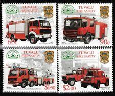 Fire Trucks sécurité MNH Jeu de 4 Timbres 2001 TUVALU #850-3