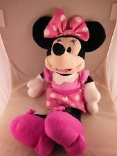 """Minnie Mouse 17"""" Plush Doll in Pink Dress & Shoes Very pretty"""