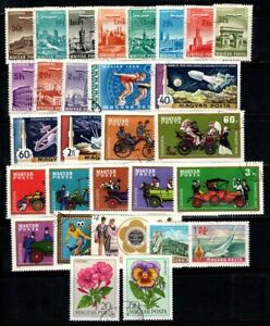 Hungary 1966-68 Used 100% plane, monuments, space, cars, flowers