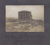 Agrigento Girgenti Tempio Greco Sicilia Italia Vintage Analogica Ca