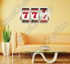 "Slot Machine Casino Gambling Las Vegas Wall Sticker Room Interior Decor 25""X14"""