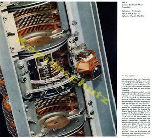 Kempter Bundespost Telefon Siemens Edelmetall-Motor-Drehwähler Elektronik 1955