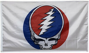 GRATEFUL DEAD Flag JERRY GARCIA BANNER WHITE 3X5ft US SHIPPER