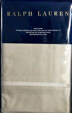 Nip $185 Ralph Lauren Bedford Sateen Champagne King Pillow Sham 800Tc Cotton