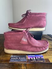 Clarks x Supreme Wallabee Gore-tex Burgundy Suede sz 11.5 100% Authentic 2012!