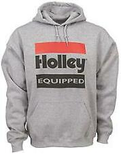 Holley Equipped Logo Hooded Sweatshirt Pullover Cotton Gray