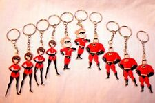New Set Of 10 The Incredibles Rubber Keychains Party Favors