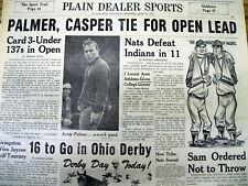 3 1966 newspapers BILLY CASPER wins US OPEN GOLF Championship over ARNOLD PALMER