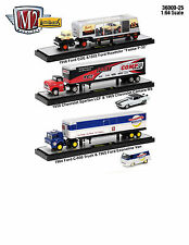 Auto Haulers Release 25 3 Trucks Set 1/64 Diecast Models By M2 Machines 36000-25