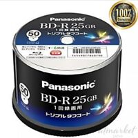 Panasonic 6x speed Blu-ray disc 25 GB recordable spindle 50 sheets LM-BRS25M50S
