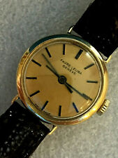 18CT GOLD ladies FAVRE LEUBA AUTOMATIC WATCH Leather STRAP working Beautifully