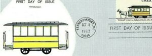 Trolley Car First Issue Stamped Envelope, 1983, Kennebunkport, ME.   S9