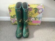 JOULES wellies size 5 Floral Green
