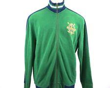 Polo Ralph Lauren Mens L Green Full Zip Sweater Jacket Mock Neck Embroidered Vtg