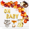 67pcs Animals Foil Balloons Set Oh Baby Banner Kids Happy Birthday Party Decor