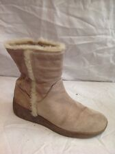 Next Beige Ankle Suede Boots Size 4
