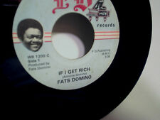 FATS DOMINO-If I Get Rich,My Old Times Use To Be,FD label #1200 45,rare rock